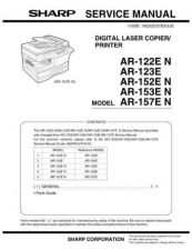 Buy Sharp AR122E-152E-153E-157E (1) Service Manual by download Mauritron #208040