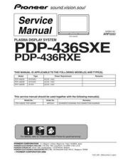 Buy Pioneer PDP-436PG-TLDPFT[2] (2) Service Manual by download Mauritron #235079