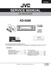 Buy JVC KD-S580 Service Manual Schematic Circuit. by download Mauritron #271507