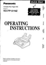 Buy Panasonic KXFT33 Operating Instruction Book by download Mauritron #236033