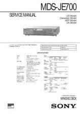 Buy Sony MDS-JE640 service manual Technical Manual. by download Mauritron #242702