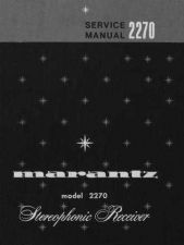 Buy MARANTZ 2270 SERVICE INFORMATION Manual by download Mauritron #230159