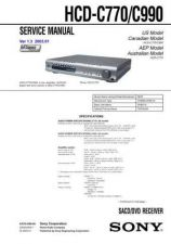 Buy Sony HCD-C770C990.. Service Manual by download Mauritron #240912