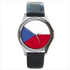 Buy Czech Republic Country Flag New Round Unisex Wrist Watch