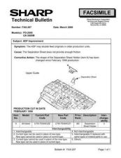 Buy SHARP FAX197 TECHNICAL BULLETIN by download #104368