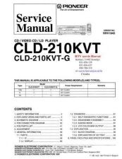 Buy PIONEER CLD210KVT CLD210KVTG RRV1845 Technical Information by download #119198
