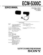 Buy Sony ECM-S300C Service Manual by download Mauritron #240599