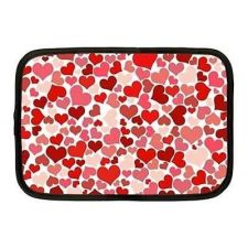 Buy Red and Pink Hearts Neoprene 10 Inch Netbook Case