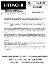 Buy Hitachi 55PMA550-2 Service Manual by download Mauritron #263113