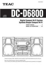 Buy Teac DC-D6800(EF) Service Manual by download Mauritron #223655