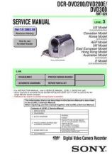 Buy Sony DCR-PC110PC110E Technical Information by download Mauritron #235503