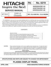 Buy Hitachi 42HDX62A-DW1-UA-42HDD52A-DW1-UB Service Manual by download Mauritron #262697