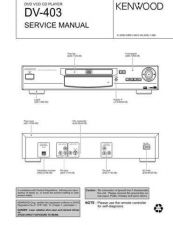 Buy KENWOOD DV-403 Technical Information by download #118598