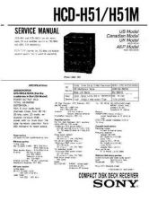 Buy Sony HCD-H51-H51M Service Manual by download Mauritron #241137