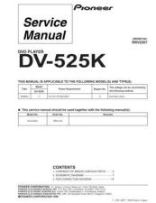 Buy Pioneer DV-525-1 Service Manual by download Mauritron #234283