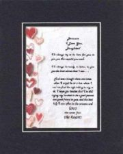 Buy Touching Poem for for Daughters on 11x14 Black on Black Double Beveled Matting