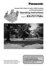 Buy Panasonic KXFLB751 Operating Instruction Book by download Mauritron #236025