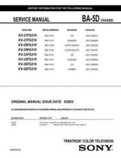 Buy Sony BA-5D CHASSIS Service Manual by download Mauritron #236841