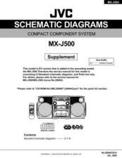 Buy JVC MX-J500sch Service Manual Schematic Circuit. by download Mauritron #271972