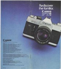 Buy CANON 1976FTBBROCHUREHQ FD CAMERA INSTRUCTIONS by download #118390