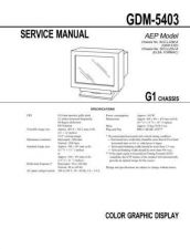 Buy Sony GDM-5403 Service Manual by download Mauritron #240799