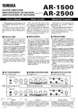 Buy Yamaha AR2500 EN(1) Operating Guide by download Mauritron #246698