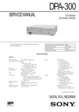 Buy Sony DPA-300 service manual Technical Manual. by download Mauritron #242011