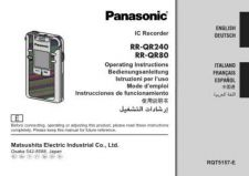 Buy Panasonic RRQR80 Operating Instruction Book by download Mauritron #236338