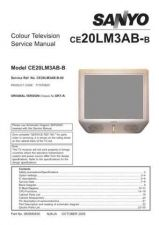 Buy SANYO CE20LM3AB UK1A CHASSIS SERVICE Manual by download Mauritron #230436