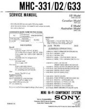 Buy Sony MHC-D6 Service Manual. by download Mauritron #242837