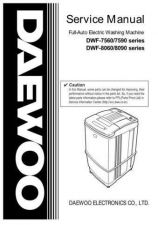 Buy Daewoo. WF75900100. Manual by download Mauritron #214049