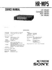 Buy Sony HR-MP5 Service Manual by download Mauritron #241353