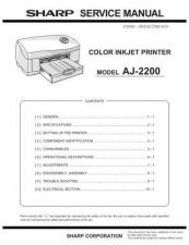 Buy Sharp AJ2200 Technical Information by download Mauritron #232615