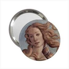 Buy Birth Of Venus Face Art Round Handbag Purse Mirror