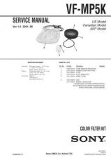 Buy Sony VF-MP5K (1) Service Manual by download Mauritron #241922