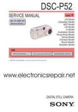 Buy Sony DSC-P52 Technical Manual. by download Mauritron #242014