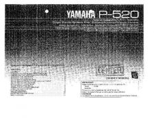 Buy Yamaha P100F Operating Guide by download Mauritron #249049