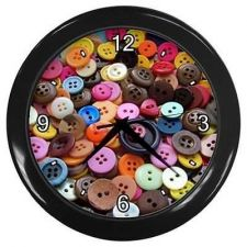 Buy Sewing Buttons Seamstress Notions Wall Clock