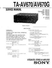 Buy Sony TA-AX295 Service Manual. by download Mauritron #245237