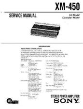 Buy Sony XM-450 Service Manual. by download Mauritron #245995