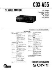 Buy Sony CDX-A40RFService Manual by download Mauritron #237574