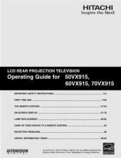 Buy Hitachi 60VX915 Service Manual by download Mauritron #263238