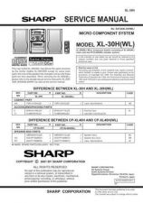 Buy Sharp XL30HWL SM SUPPLEMENT GB Service Manual by download Mauritron #207691