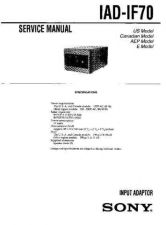 Buy Sony IAD-IF70 Service Manual. by download Mauritron #241448
