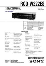 Buy Sony RCD-W3 Technical Information by download Mauritron #235802