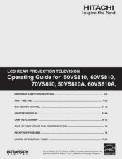 Buy Hitachi 50VS810A Service Manual by download Mauritron #262975