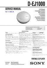 Buy Sony D-E350E351E351SRE353E355E356CK Service Information by download Mauritron #