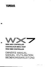 Buy Yamaha WX7E Operating Guide by download Mauritron #205568