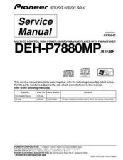 Buy Pioneer DEH-P7880MP-2 Service Manual by download Mauritron #233666