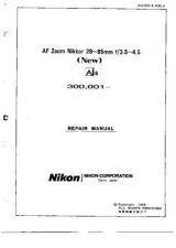 Buy NIKON Nikkor 28-85mm Repair Manual by download Mauritron #266111